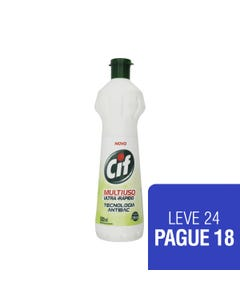 CIF Multiuso Antibac 500ml LEVE 24 PAGUE 18