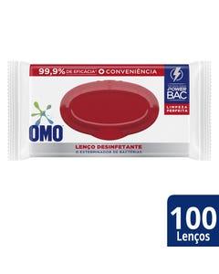 Lenço Desinfetante Omo 100 Unidades