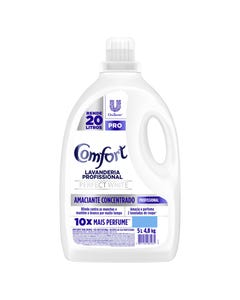 Amaciante Concentrado Comfort Perfect White 5L