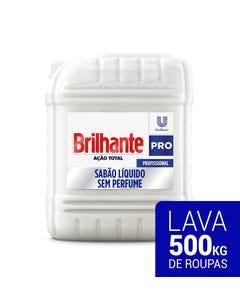 Bombona branca de Brilhante Lava-roupas líquido sem perfume de 7 litros