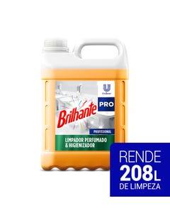 Bombona transparente de Brilhante Desinfetante de 5 litros com líquido laranja
