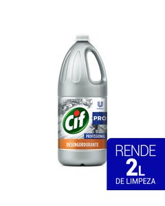 Garrafa prateada de CIF Desengordurante de 2 litros