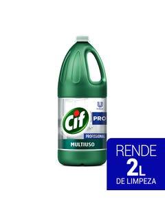Garrafa verde de CIF Multiuso de 2 litros