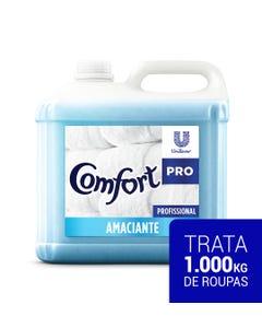 Garrafa transparente de Comfort Amaciante Diluído de 10 litros com líquido azul