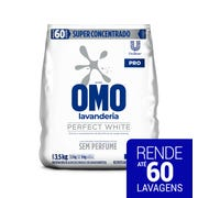 Lava-Roupas Super Concentrado em Pó Lavanderia sem Perfume Omo Perfect White Pro Pacote 3,5kg
