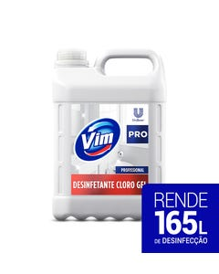 Bombona branca de VIM Cloro Gel de 5 litros